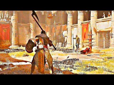 ASSASSIN'S CREED ORIGINS Gladiator Arena Gameplay + BOSS Fight (E3 2017)