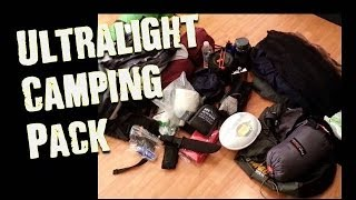 Solo Camping- Backpack Contents Overview