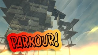 FIRST EVER PARKOUR COURSE BUILT ON A RAFT!!! | Raft Gameplay