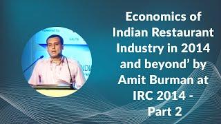 Economics of Indian Restaurant Industry