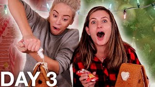 drunk gingerbread house decorating (huge fail)