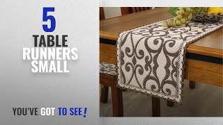 Best Table Runners Small [2018]: Brief style 100% cotton handmade coffee flower cream small table