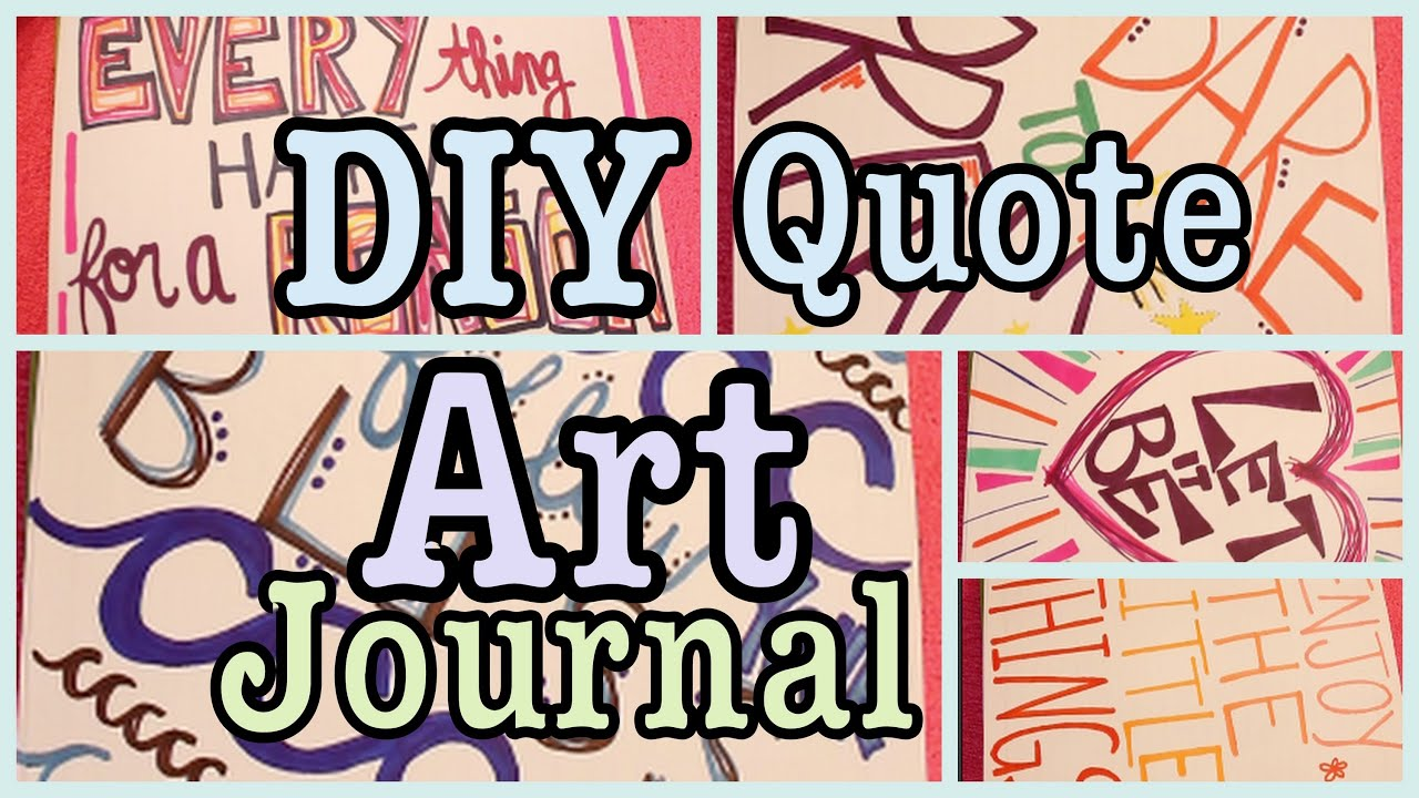Art Journal Drawings Diy Quote Art Journal