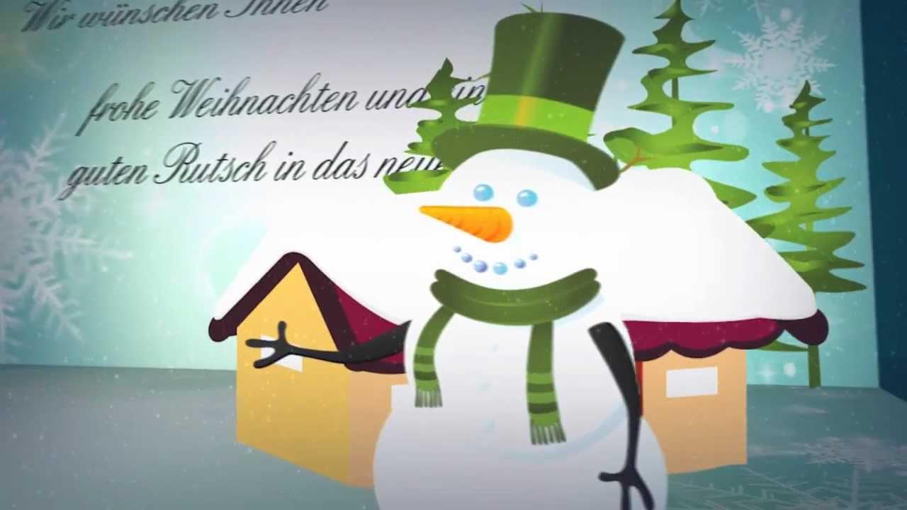 weihnachts video karte schneemann weihnachtsvideo f r. Black Bedroom Furniture Sets. Home Design Ideas
