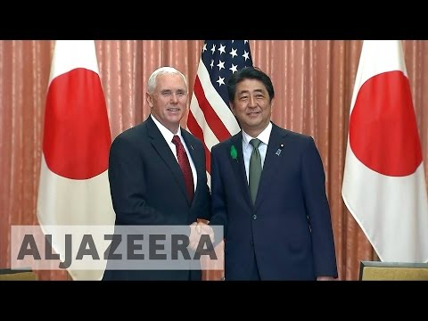 N  Korea tension dominates Pence's Japan visit