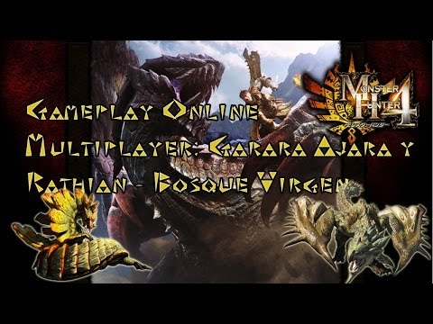 Monster Hunter 4 GARARA AJARA and RATHIAN HR5 HIGH RANK Online Multiplayer Gameplay MH4