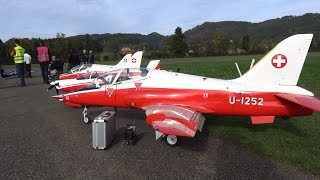 3x HUGE BAE HAWK MK-66 AND A TURBOPROP PC-7 WITH DOUBLE TANK HAUSEN 2017