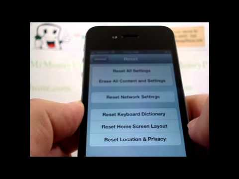 HARD RESET APPLE iPHONE 4S Master Data Wipe (RESTORE to FACTORY condition) Video