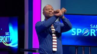 Shampoonizer entertains Thomas Mlambo and the viewers