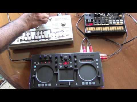 Roland TB 303 with a Korg KaossDJ & Volca Beats
