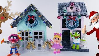Christmas Craft DIY Christmas Villages for small toys by DCTC Amy Jo