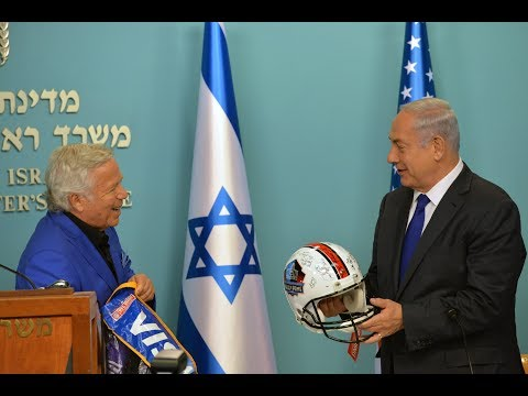PM Netanyahu Meets with Former NFL Stars