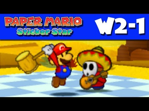 Paper Mario Sticker Star - Gameplay Walkthrough World 2-1 - Drybake Desert (Nintendo 3DS)