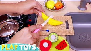 Baby Doll Cooking Cupcakes with Kitchen Toys! 🎀