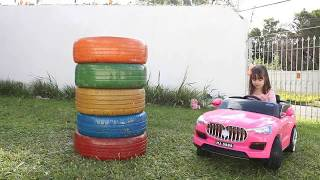 APRENDENDO CORES  Learn Colors for Kids with Color Tire Educational video for Children Songs