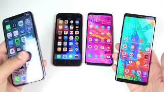 Samsung vs Apple the lead in Smartphones !! iPhone X & 8+ vs Galaxy S9+ & Note 8