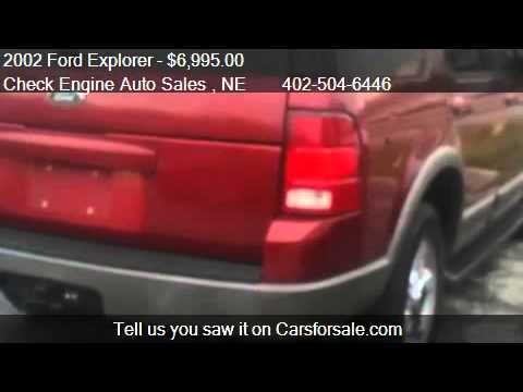 2002 Ford Explorer XLT 4WD - for sale in Bellevue, NE 68005