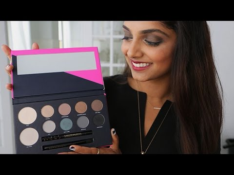 Smoky Eye Tutorial with Cynthia Rowley Beauty Game Face Eye Shadow Palette