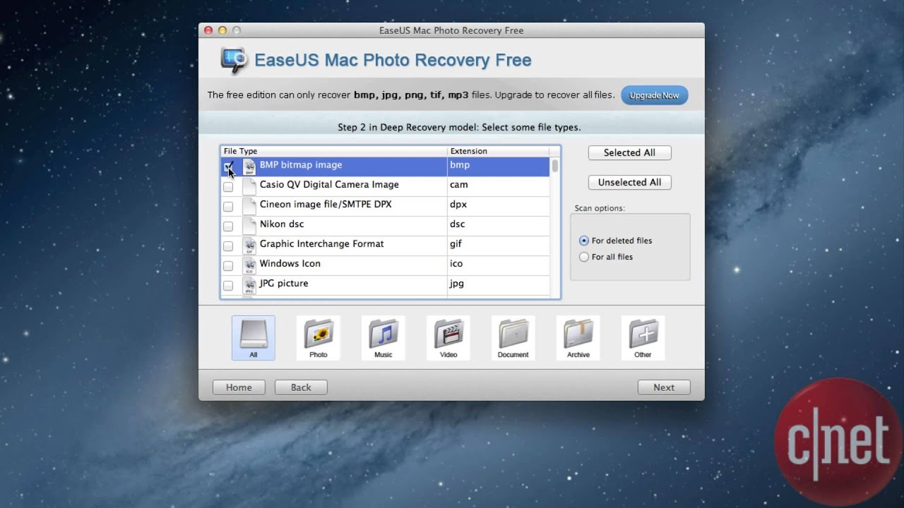 Software to retrieve deleted photos
