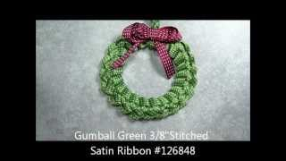 Ribbon Wreath Ornament Tutorial