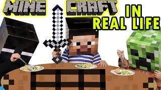 Minecraft in Real Life - Dinner with a Creeper (Skit)