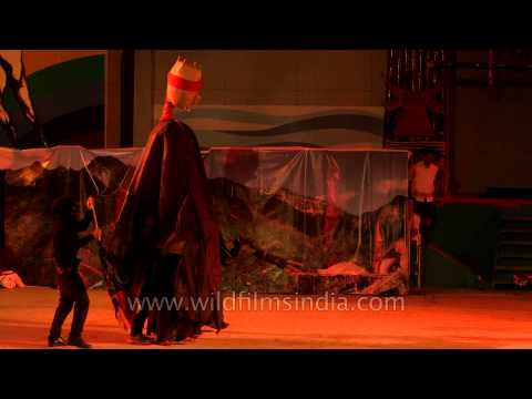 A drama showcased by the Churachandpur district at the cultural show at Sangai Fest 2013. The CCpur atristes made the guest to dance on the stage. The Sangai...