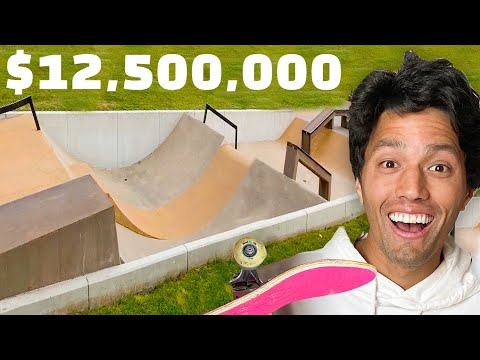 This  MASSIVE SKATEPARK In Texas Costs $12.5 MILLION DOLLARS!