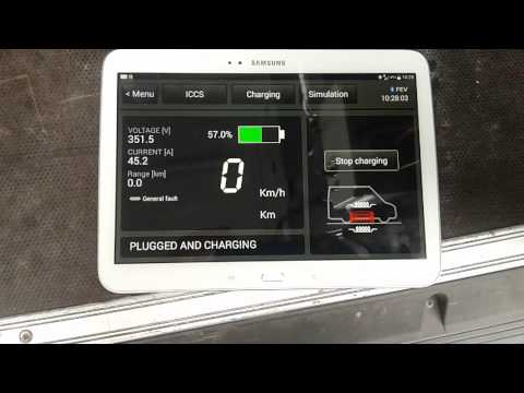 Inductive charging of electric vehicle Iveco Daily - Douai, France