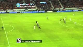 Gol de Mancuello. Independiente 1 - Newell's 0. Fecha 18. Primera 2014. FPT.