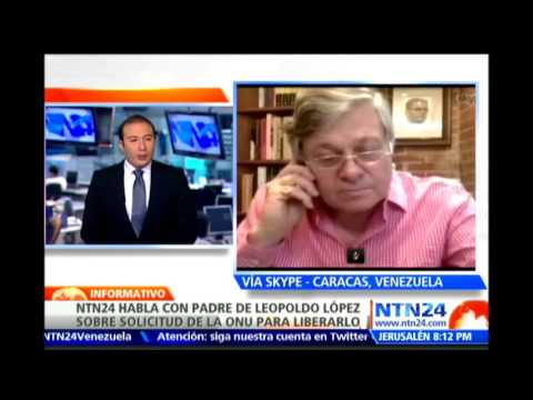 Padre de Leopoldo López afirma que llevará a la justicia a la jueza que atiende el caso de su hijo