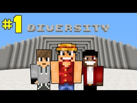 ماينكرافت كوستوم ماب : #1 Minecraft [ Diversity ] Custom Map