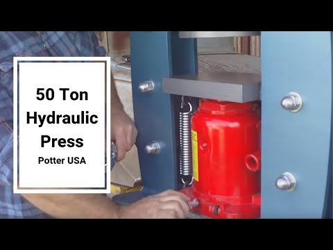 Potter USA 50 Ton Hydraulic Press