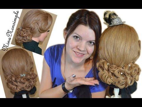ПРИЧЕСКА для длинных и средних волос/Romantic hairstyle