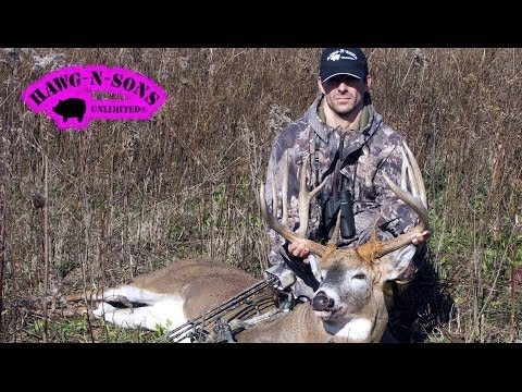 Biggest Whitetail Deer Kill Shot Ever Self Filmed November 4 ONLY on HawgNSonsTV