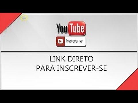 Como Criar um Link Direto para as pessoas se inscrever no seu canal do youtube 2015 thumbnail