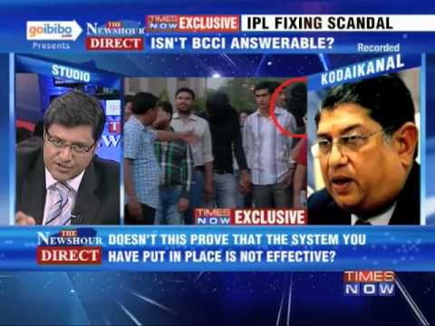 The Newshour Direct: BCCI President N Srinivasan