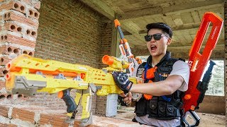 LTT Nerf War : SEAL X Warriors Nerf Guns Fight Dr Lee Group Armed Bandits Hunter