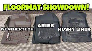 2019 FLOORMAT SHOWDOWN! Weathertech vs Aries vs Husky Liner! Part 1 of 3