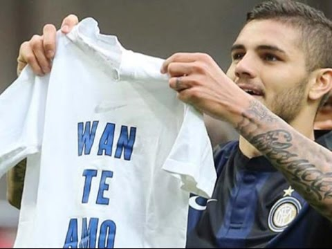 Mauro Icardi throws his shirt to Inter fans They throw it back & exchange insults