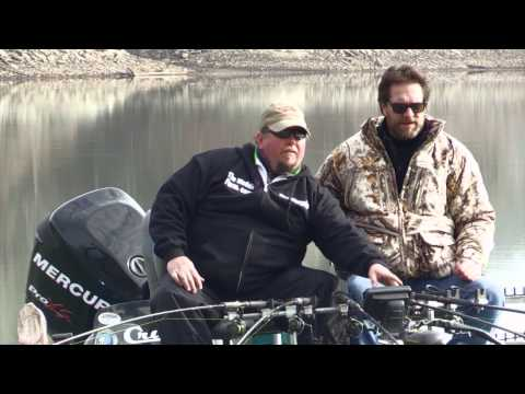 Winter Crappie fishing on Green River Lake