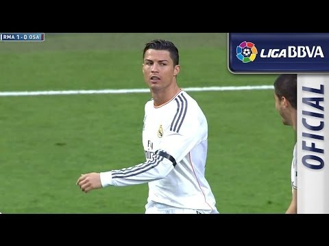 Amazing goal of Cristiano Ronaldo (1-0) Real Madrid - Osasuna - HD