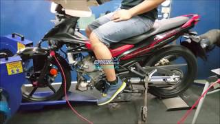 Yamaha Y15ZR aRacer RC1 Super Dyno Tuning - Motodynamics Technology Malaysia