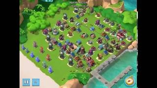 Boom Beach — TO大叔落花无情 and 一代真龙海中升 on boosted ice bases, HZ