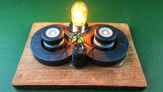 Electricity Generator Self Running Machine Using DC Motors With Magnet , Free Energy Device 100%