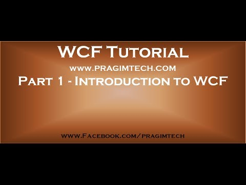 Part 1   Introduction to WCF