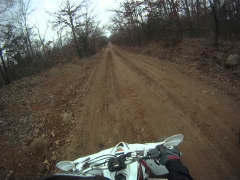 riding through Arkansas county roads, drag starts at 5:08 best two of three.