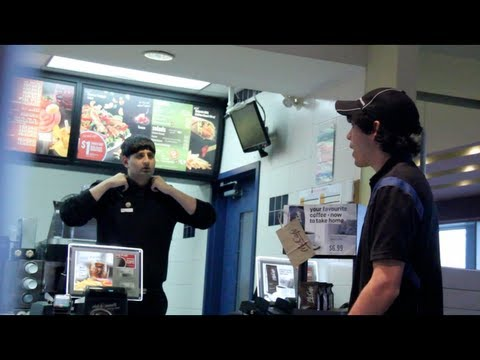 Pretending To Be a McDonalds Employee PRANK