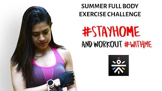 Full Body Workout Challenge #Stayhome & Workout #withme Summer weight loss challenge | No equipment