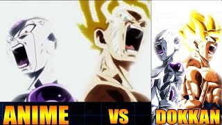ANIME VS DOKKAN COMPARISON | LR GOKU & FRIEZA SUPER ATTACK ANIMATION #DOKKANBATTLE