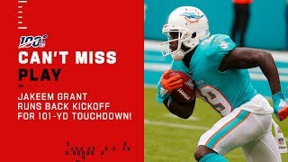 Miami Special Teams Keeps Rollin' w/ 101-Yd Kickoff Return